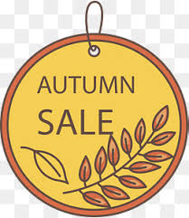 yellow leaves of autumn promotional ornaments vector png