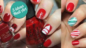 imagenes uñas para decorar 3 ideas para decorar tus uñas en navidad paso a paso nailistas