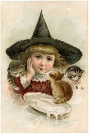 vintage halloween clip art precious little witch the graphics