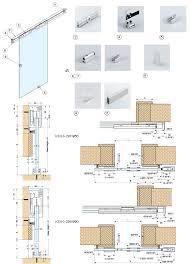 Sliding Glass Cabinet Doors Ksug 2974 60 Sliding Glass Door System Alema Hardware