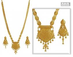 indian bridal jewelry necklace images Indian bridal necklace set ajns52900 22k gold necklace and jpg