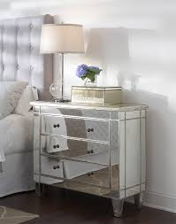 Side Tables For Bedroo by Furniture 3 Drawers Mirrored Side Table With Tissue Box And Table