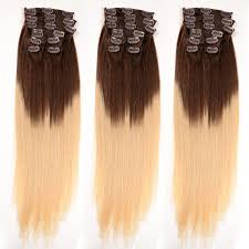 remy clip in hair extensions 120g 150g two tone weft clip on hair extension bohemian remy