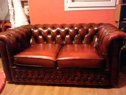 canape chesterfield occasion canape canape chesterfield cuir convertible canapac 6 marron