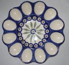 ceramic deviled egg platter pottery deviled egg plate egg plates cups holders