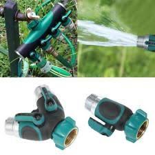 Faucet Splitter Hose Splitter Connector 2 Way Watering Garden Shut Off Valve