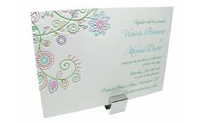 henna invitation colorful henna flowers wedding invitation digby digby