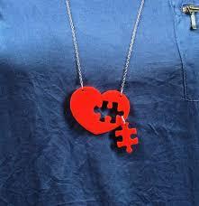 puzzle love necklace images Puzzle heart necklace plexiglass necklace lasercut by bugga on zibbet jpg