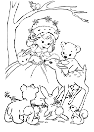 winter coloring pages kids printable free cards