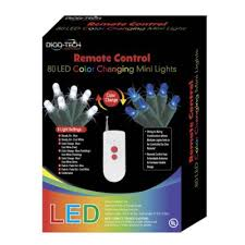 lights 80 remote led color changing miniature