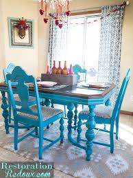 Teal Dining Table Turquoise Dining Table Daily Dose Of Style