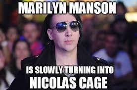 Meme Nicolas Cage - nicholas cage and marilyn manson are morphing into the same man