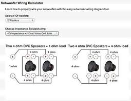 scintillating 1 ohm dvc subwoofer wiring diagrams gallery wiring