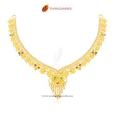 beautiful necklace designs images Beautiful gold necklace from thangamayil jewellery south india jpg