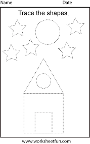 Free Printable Shapes Worksheets Free Printable Preschool Worksheets This One Is Trace The Shapes