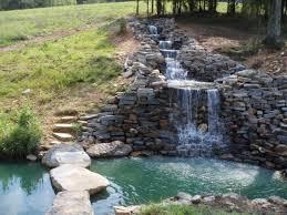 backyard stone waterfalls outdoor furniture design and ideas