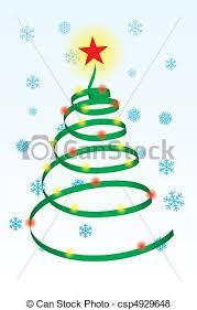 spiral christmas tree spiral christmas tree stylized christmas tree illustration
