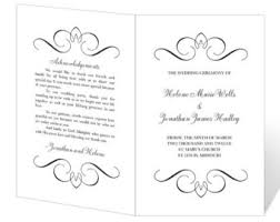 wedding program templates word wedding program template printable instant