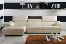 Small Modern Sectional Sofa by Ivory Bonded Leather Stylish Modern Sectional Sofa