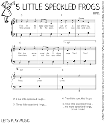 thanksgiving sheet music 5 little speckled frogs counting songs free sheet music sheet