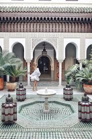 moroccan riad floor plan marrakech travelguide