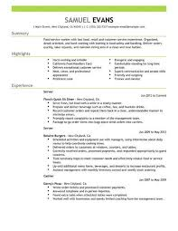 resume exles for restaurant 18 amazing restaurant bar resume exles livecareer