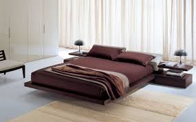 decorations simple and modern design of bed with wood platform