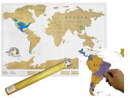 World Map Wall Poster large scratch off world map poster personalized travel log