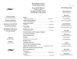 order of wedding program best free downloadable wedding program templates