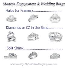 wedding ring styles modern engagement and wedding rings my online wedding help