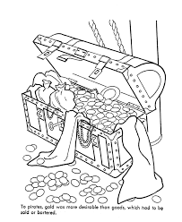 pirate treasure chest coloring pages pinterest pirate