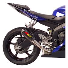 hotbodies racing mgp slip on exhaust yamaha r6 2006 2017 revzilla