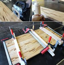 Making A Wood Plank Table Top by Glow Table 25 Steps With Pictures