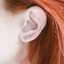 diamond ear cuff gold floating earcuff der hulst