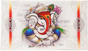hindu wedding invitations hindu wedding invitation in multi color studded ganesha