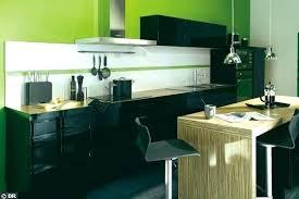 cuisine vert pomme cuisine verte et marron meubles et peinture cuisine vert anis avec