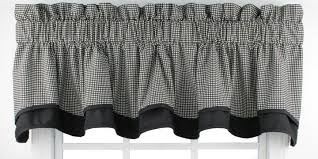 Black And White Checkered Curtains Gingham Curtains Check Print Curtains Window Toppers