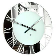 Modern Wall Clocks Large Round Silver Wall Clocks