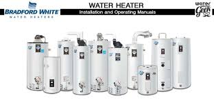 bradford white water heater manuals