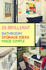 storage ideas bathroom 25 inventive bathroom storage ideas made easy