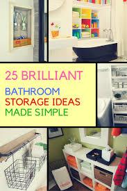 Cool Bathroom Storage Ideas 25 Inventive Bathroom Storage Ideas Made Easy