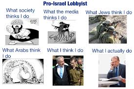 Israel Memes - what i actually do pro israel lobbyist major karnage