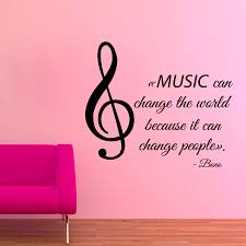music wall decals musical note quote music can change the details music wall decals musical note