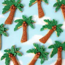 palm tree cookies treats
