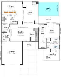 modern beach house plans including narrow lot floor plan trends
