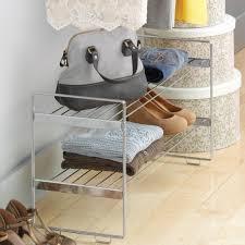 Stackable Wire Shelves by Amazon Com Whitmor Stackable Closet Shelves Chrome Home U0026 Kitchen