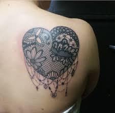 10 elegant lace tattoo designs for women