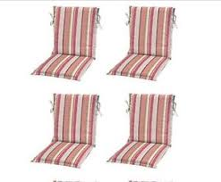 Patio Chair Cushions Set Of 4 Coral Stripe Sling Patio Chair Cushion Set 4 Outdoor Replacement