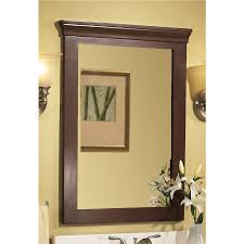 Framed Bathroom Mirror Ideas Colors Shop Allen Roth Sycamore 23 In W X 30 In H Nutmeg Rectangular