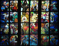 stained glass window alphonse mucha stained glass window 1931 st vitus cathedral